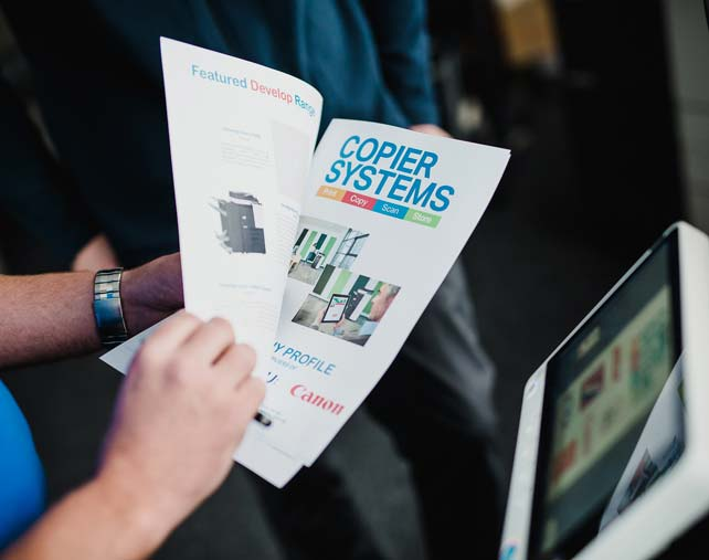 Copier Systems printed brochure